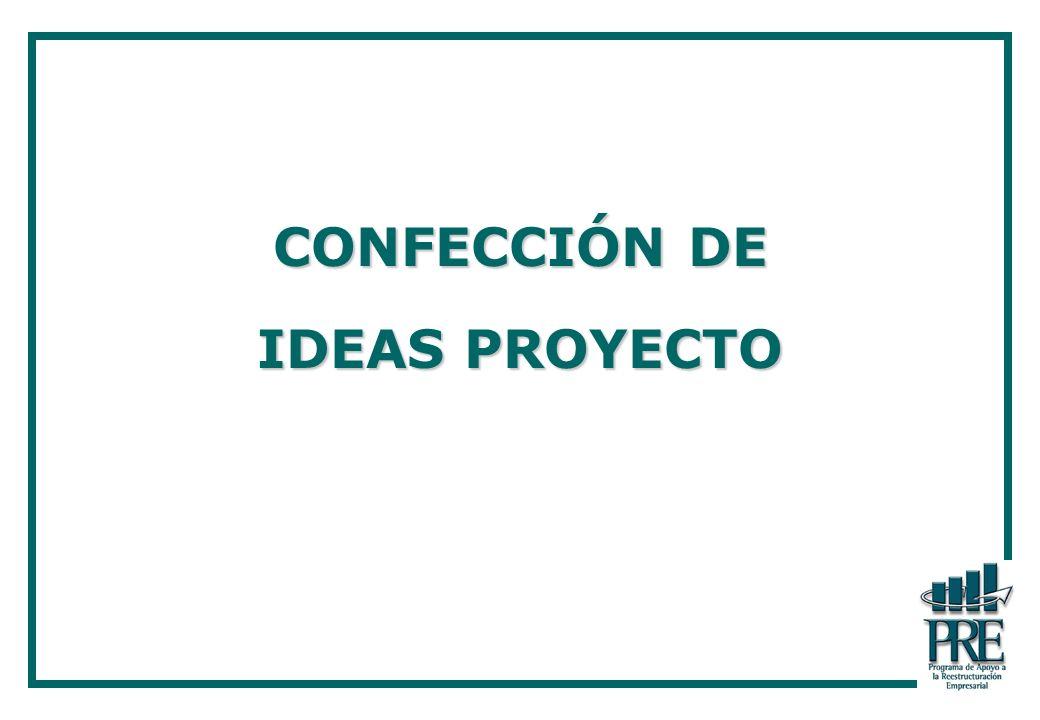 CONFECCIÓN DE IDEAS PROYECTO