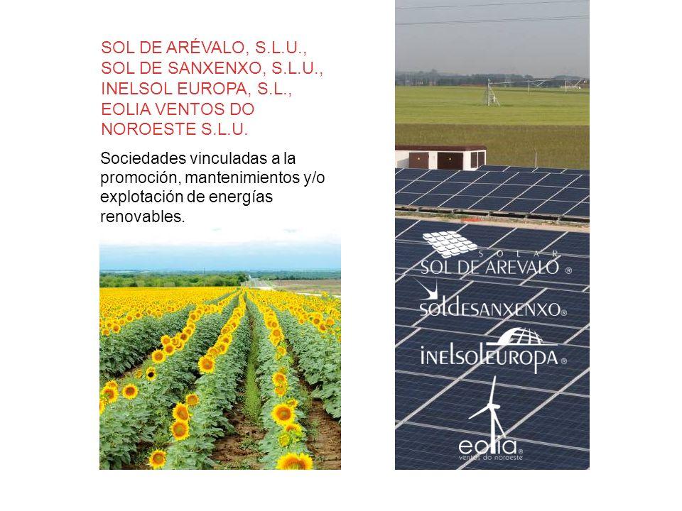 SOL DE ARÉVALO, S.L.U., SOL DE SANXENXO, S.L.U., INELSOL EUROPA, S.L.,
