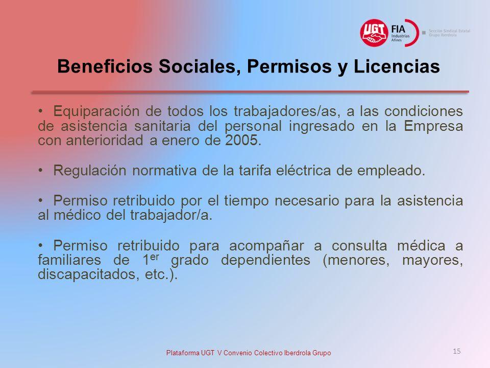 Beneficios Sociales, Permisos y Licencias