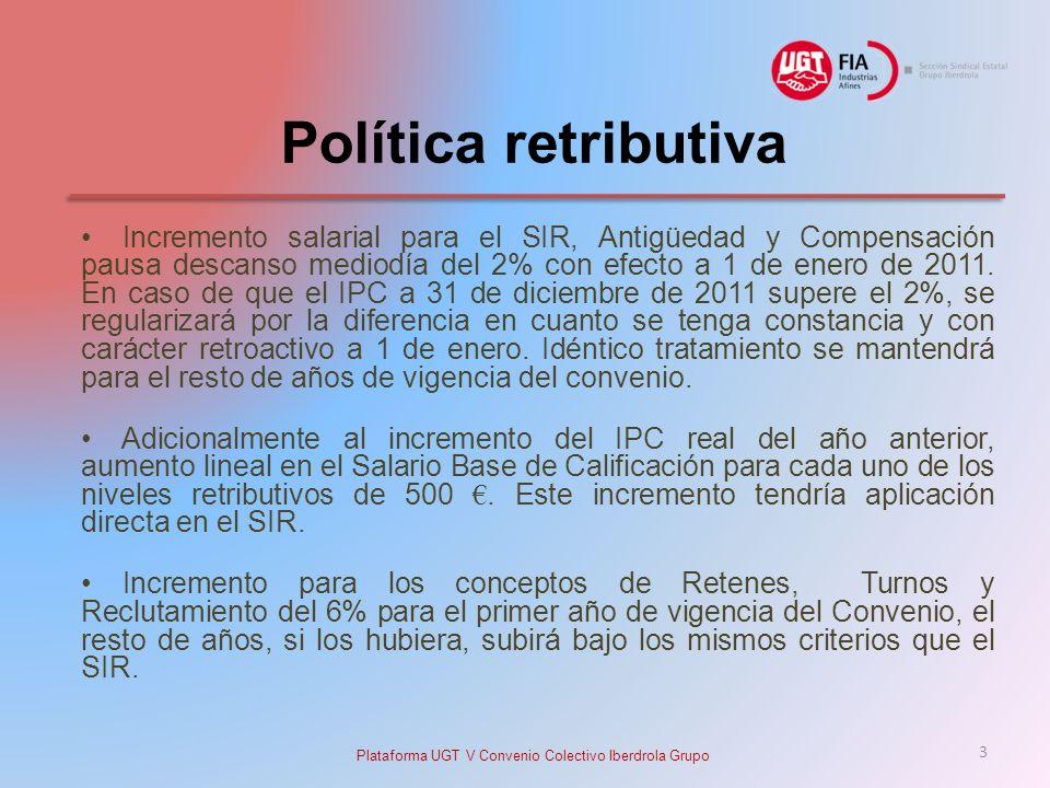 Plataforma UGT V Convenio Colectivo Iberdrola Grupo