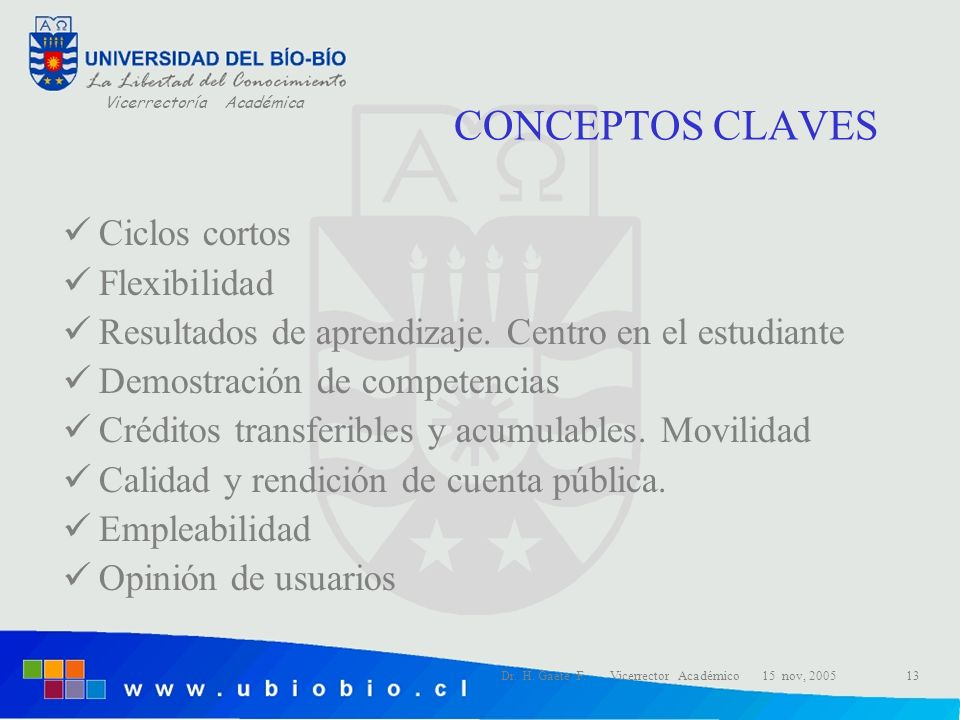 CONCEPTOS CLAVES Ciclos cortos Flexibilidad