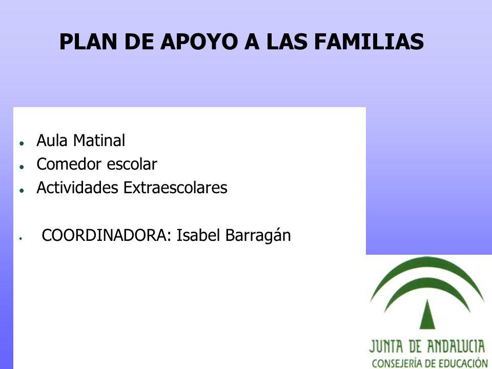 PLAN DE APOYO A LAS FAMILIAS