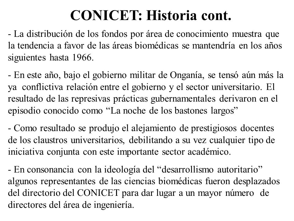 CONICET: Historia cont.