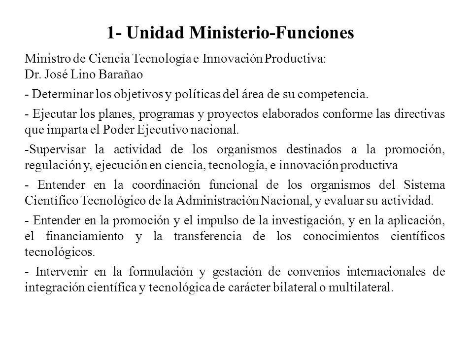 1- Unidad Ministerio-Funciones