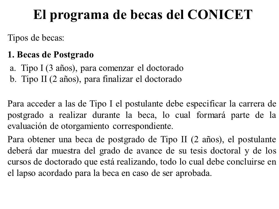 El programa de becas del CONICET
