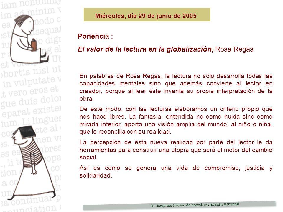 El valor de la lectura en la globalización, Rosa Regàs