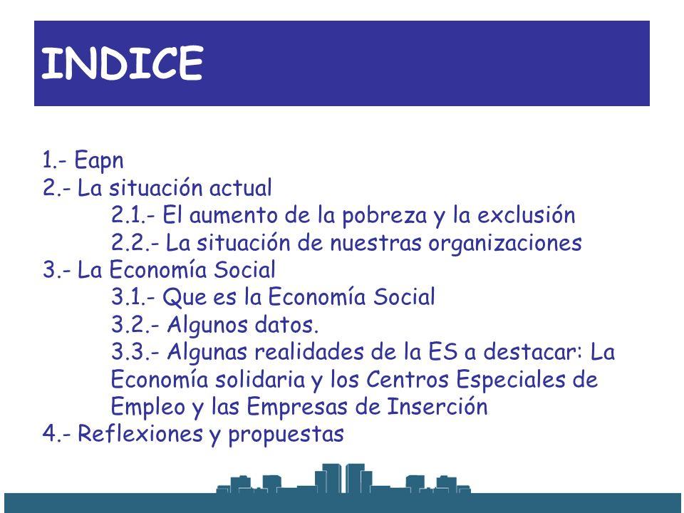 INDICE 1.- Eapn 2.- La situación actual