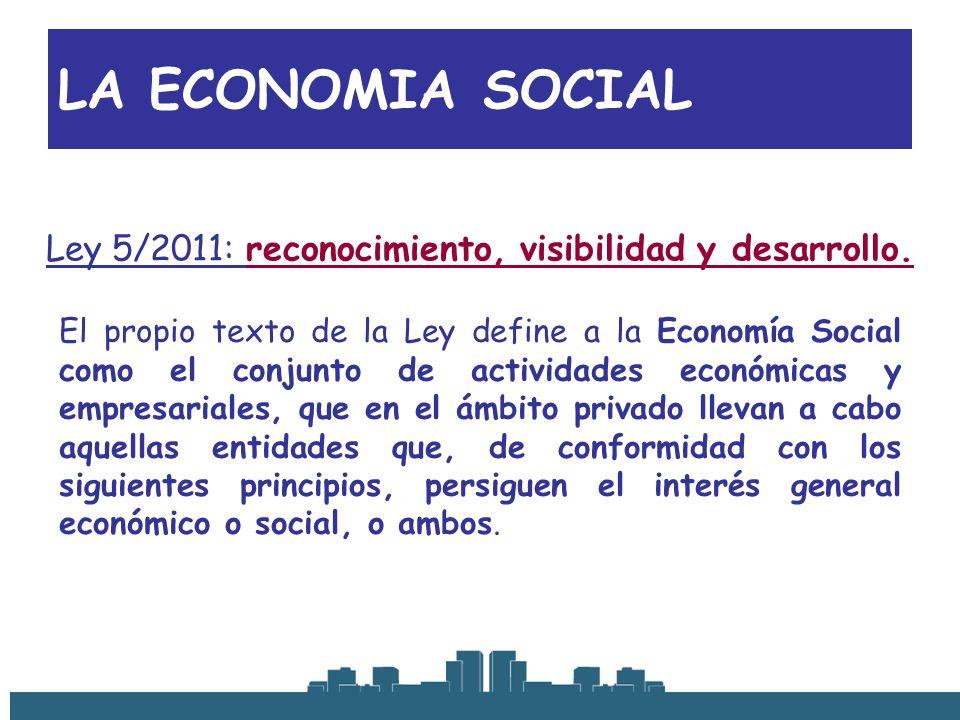 Ley 5/2011: reconocimiento, visibilidad y desarrollo.