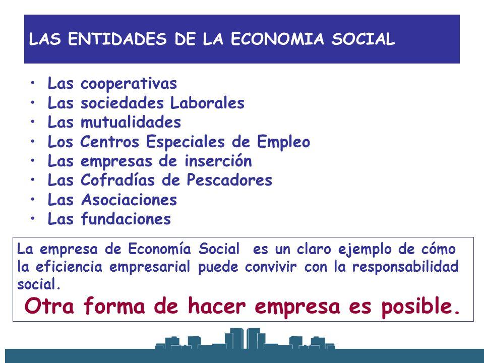 LAS ENTIDADES DE LA ECONOMIA SOCIAL