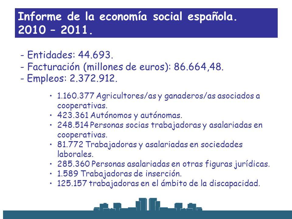 Informe de la economía social española. 2010 – 2011.