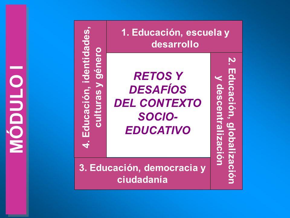 MÓDULO I RETOS Y DESAFÍOS DEL CONTEXTO SOCIO-EDUCATIVO