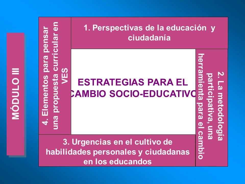 ESTRATEGIAS PARA EL CAMBIO SOCIO-EDUCATIVO MÓDULO III