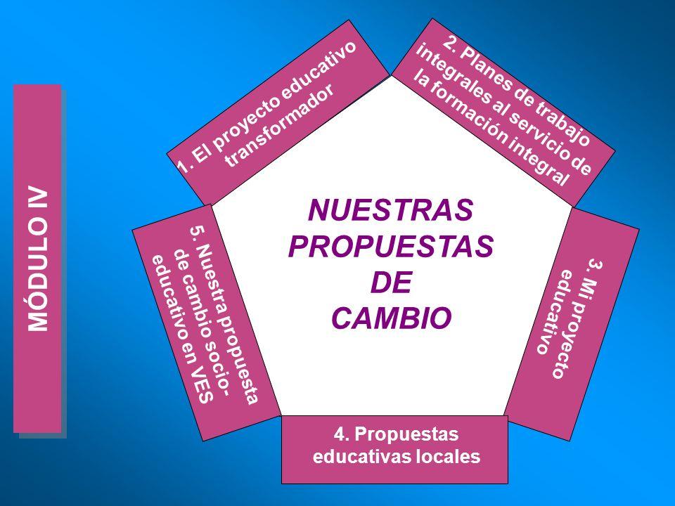 NUESTRAS PROPUESTAS DE