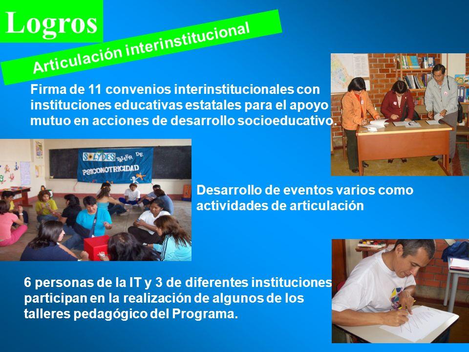 Articulación interinstitucional