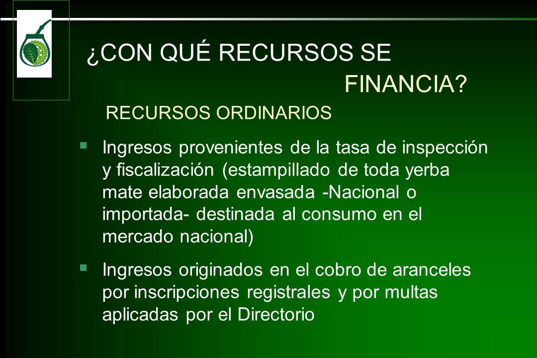¿CON QUÉ RECURSOS SE FINANCIA RECURSOS ORDINARIOS