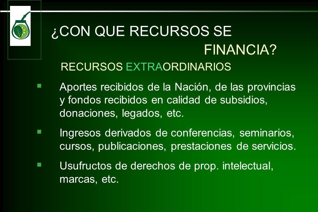 ¿CON QUE RECURSOS SE FINANCIA RECURSOS EXTRAORDINARIOS