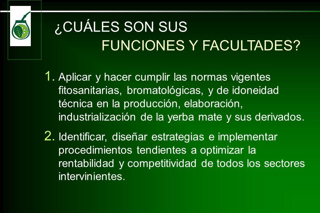 FUNCIONES Y FACULTADES