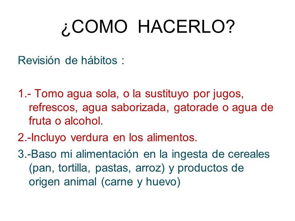 ¿COMO HACERLO