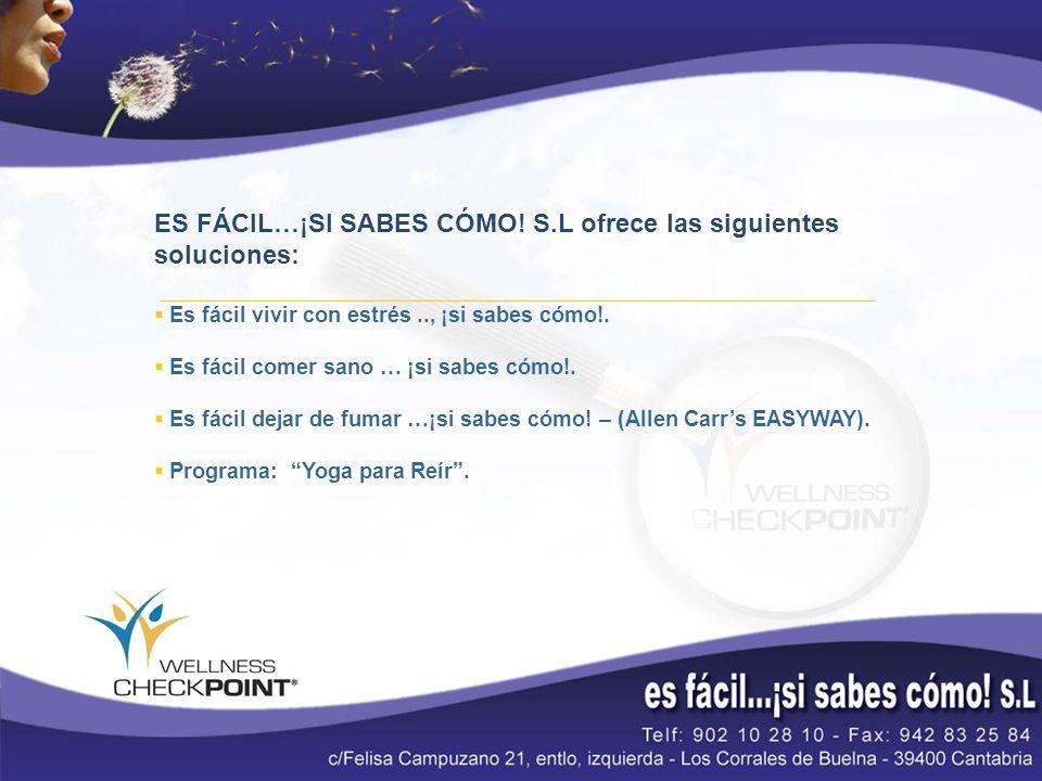 ES FÁCIL…¡SI SABES CÓMO! S.L ofrece las siguientes soluciones: