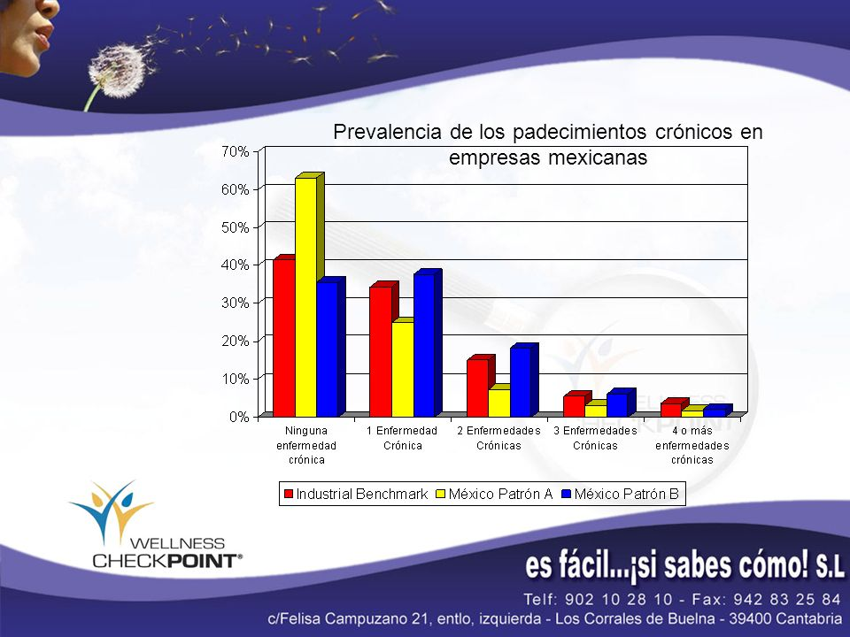 Prevalencia de los padecimientos crónicos en empresas mexicanas