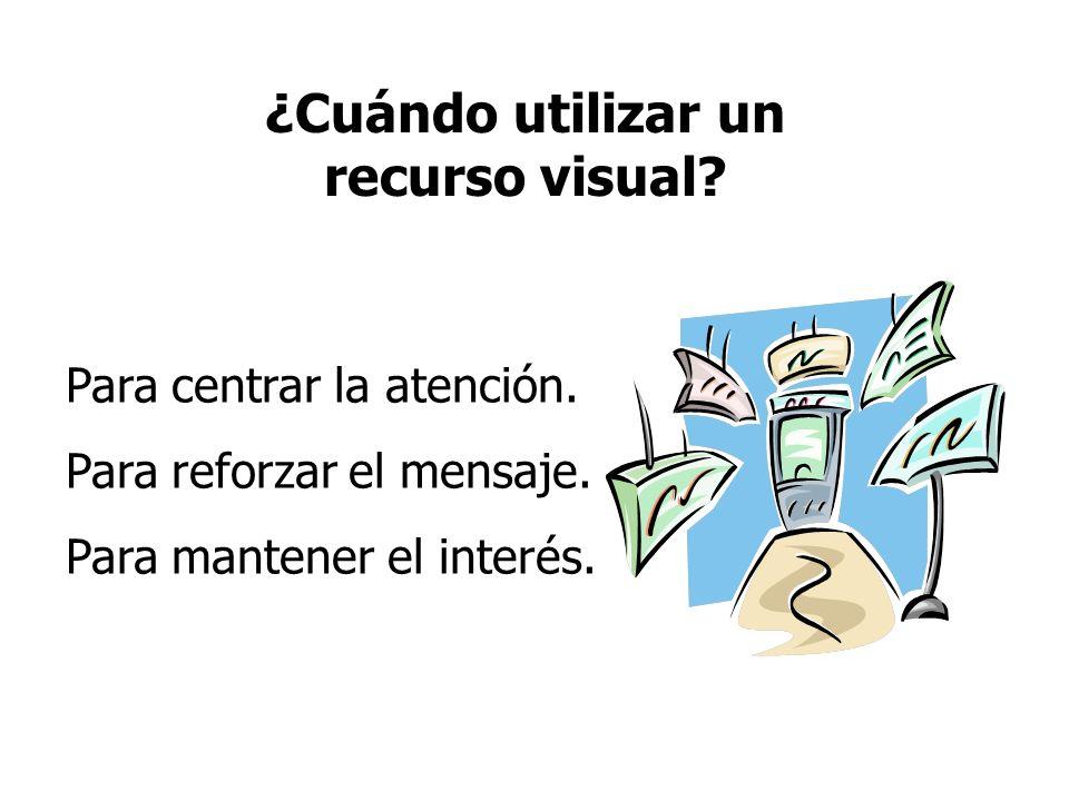¿Cuándo utilizar un recurso visual