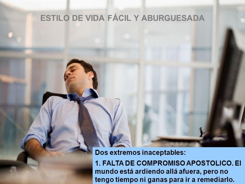 ESTILO DE VIDA FÁCIL Y ABURGUESADA