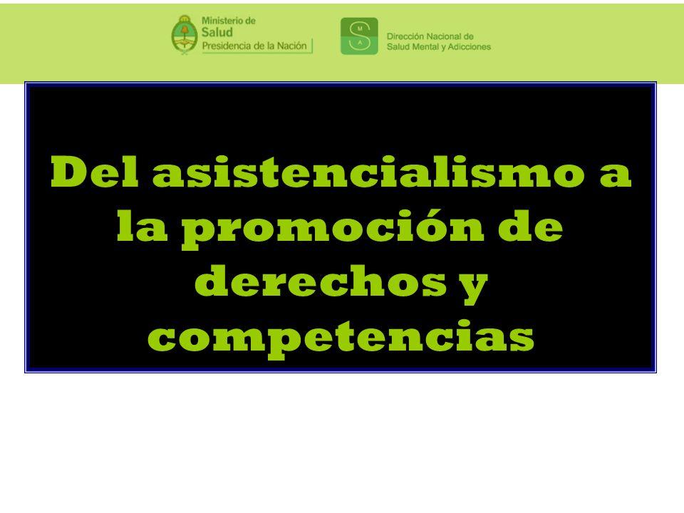 Del asistencialismo a la promoción de derechos y competencias