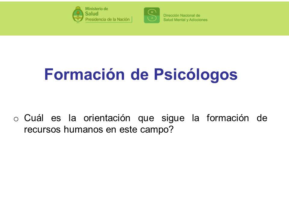 Formación de Psicólogos