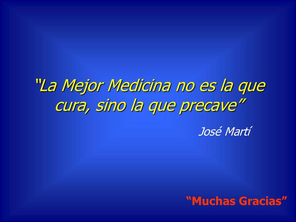 La Mejor Medicina no es la que cura, sino la que precave