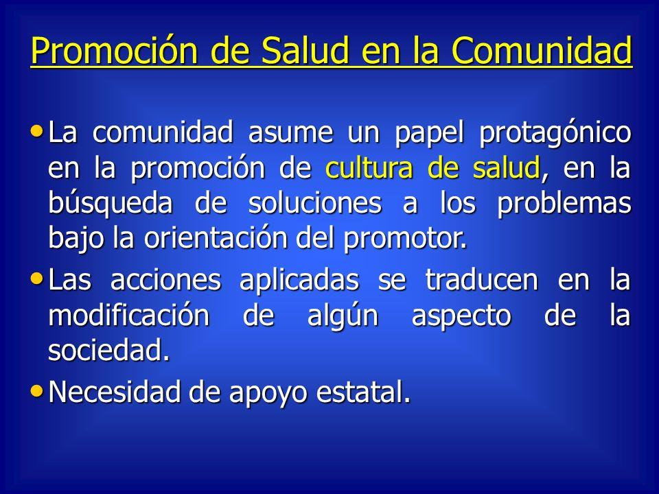 Promoción de Salud en la Comunidad