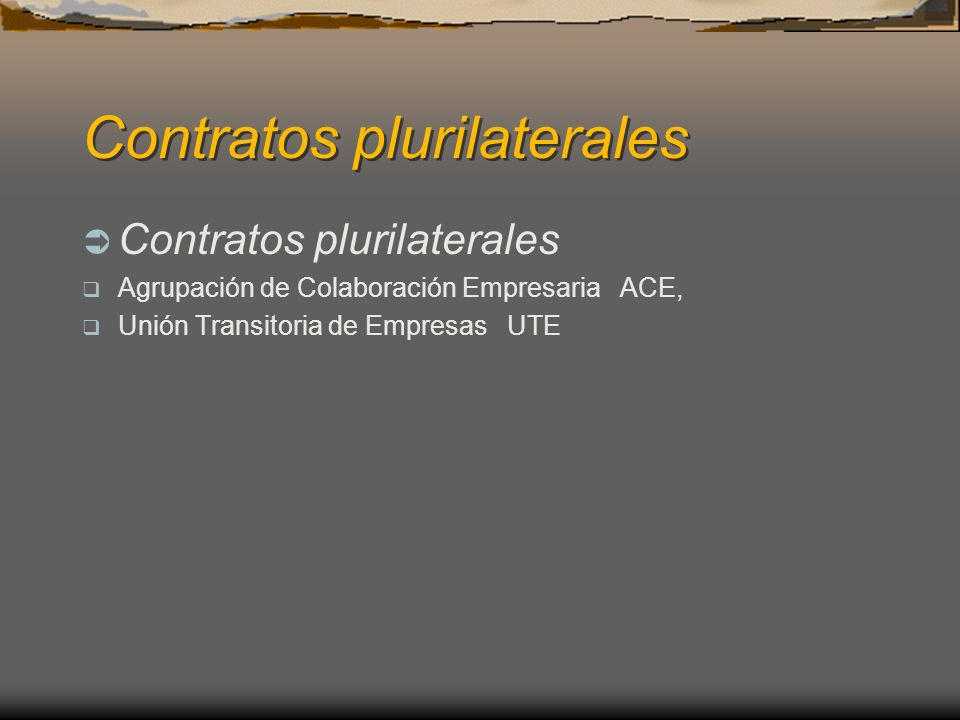 Contratos plurilaterales