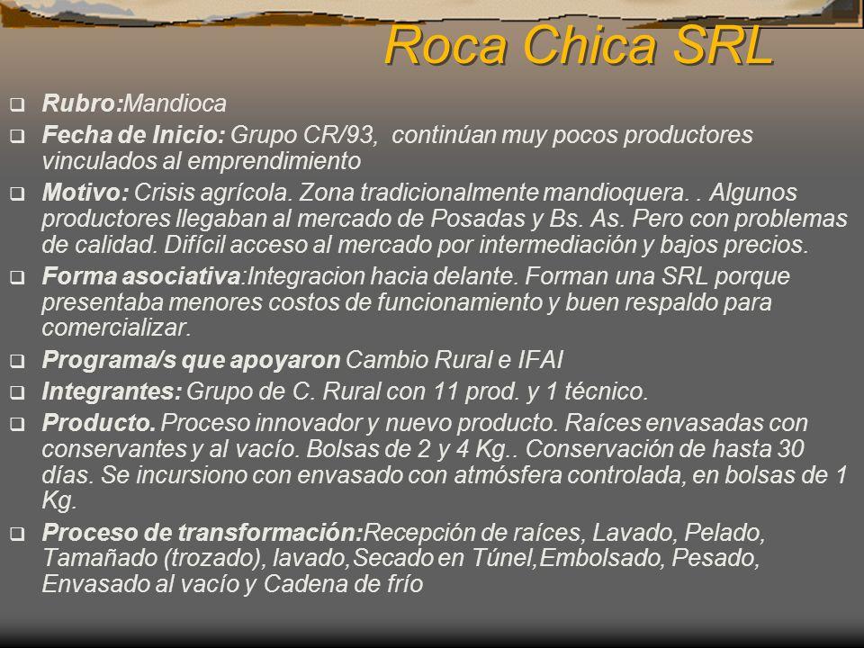 Roca Chica SRL Rubro:Mandioca