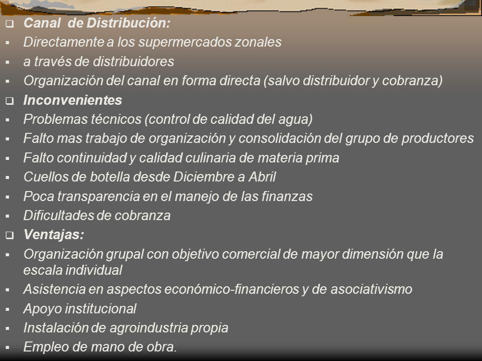 Canal de Distribución: