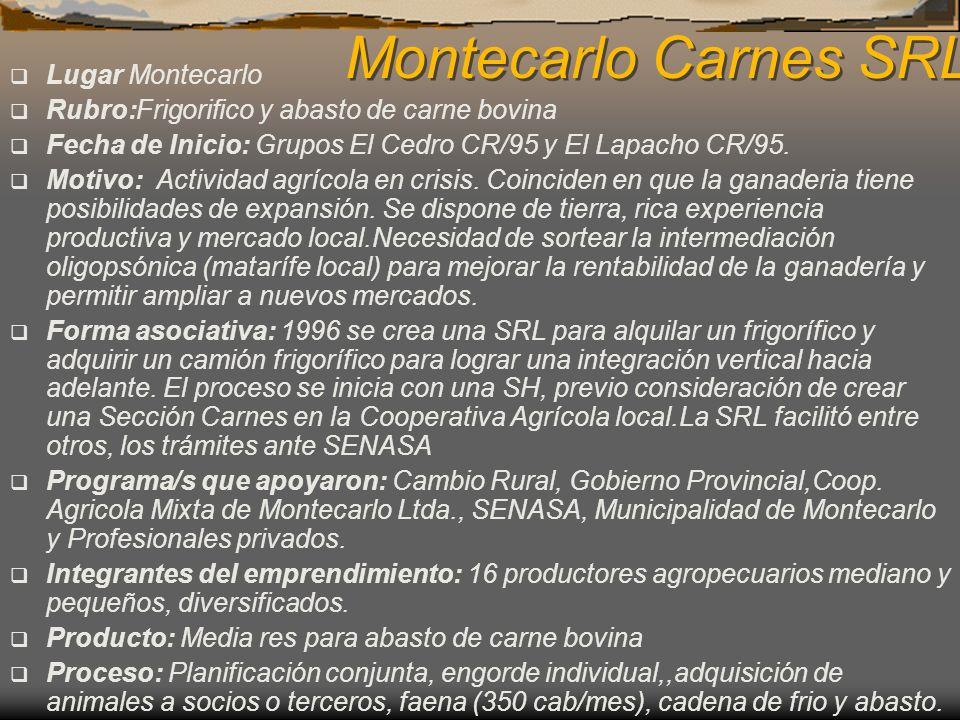 Montecarlo Carnes SRL Lugar Montecarlo