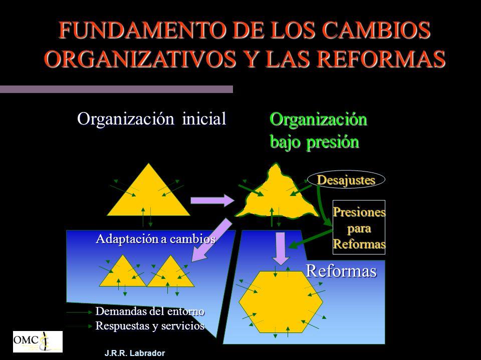 FUNDAMENTO DE LOS CAMBIOS ORGANIZATIVOS Y LAS REFORMAS