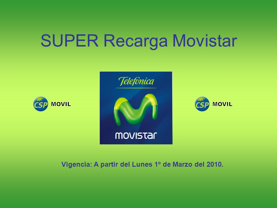 SUPER Recarga Movistar