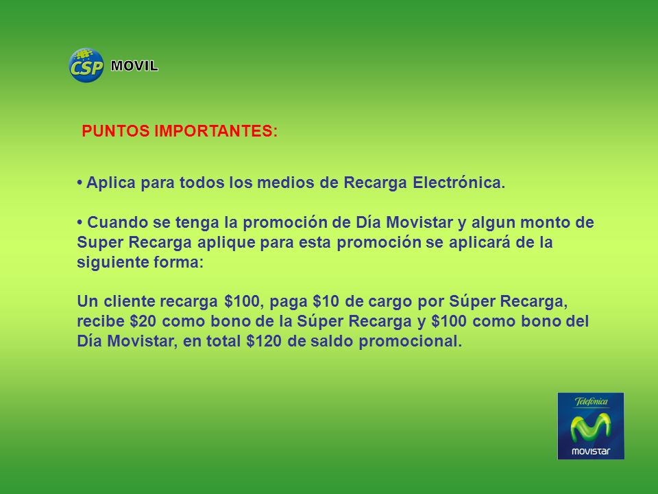 MOVIL PUNTOS IMPORTANTES: