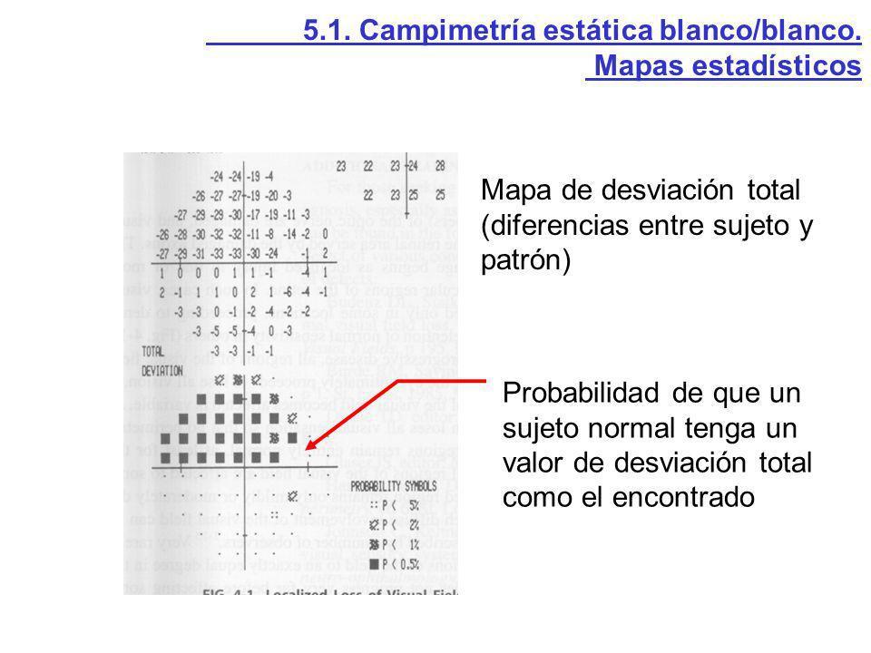 5.1. Campimetría estática blanco/blanco.