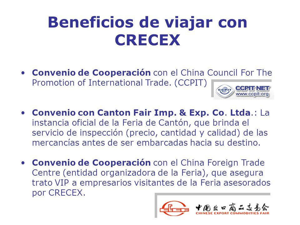 Beneficios de viajar con CRECEX