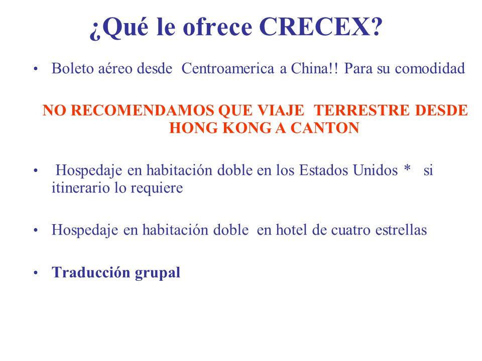 NO RECOMENDAMOS QUE VIAJE TERRESTRE DESDE HONG KONG A CANTON