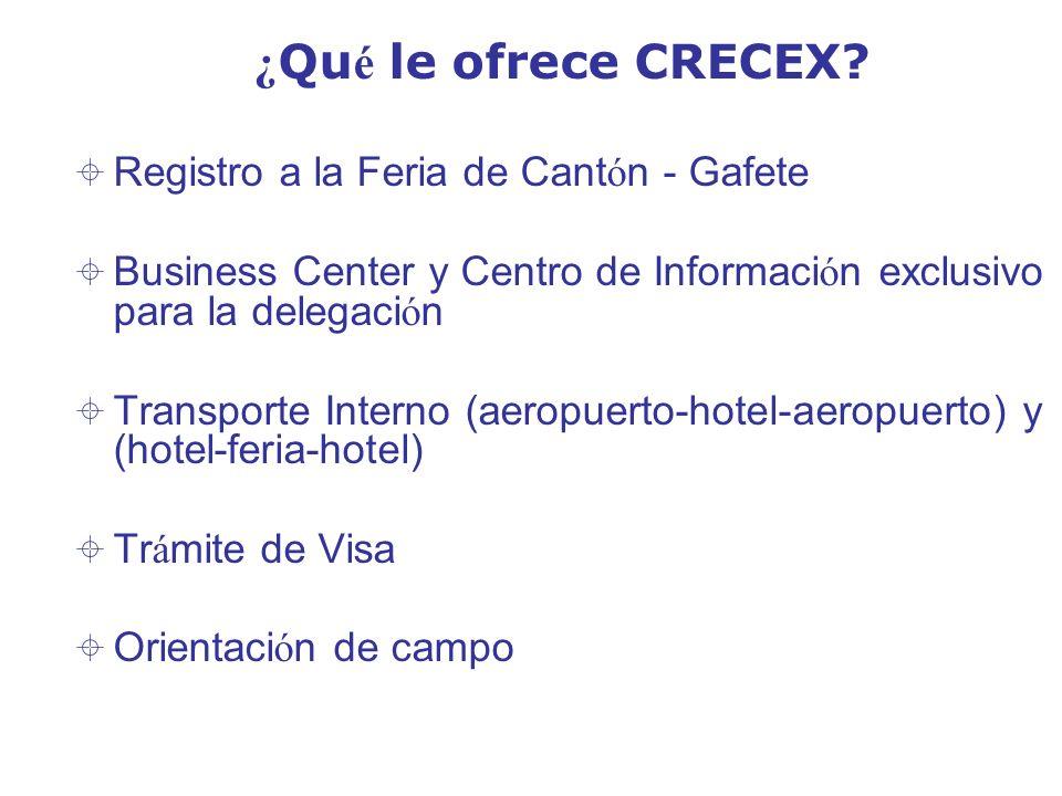 ¿Qué le ofrece CRECEX Registro a la Feria de Cantón - Gafete