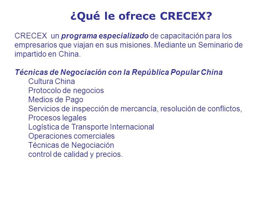 ¿Qué le ofrece CRECEX