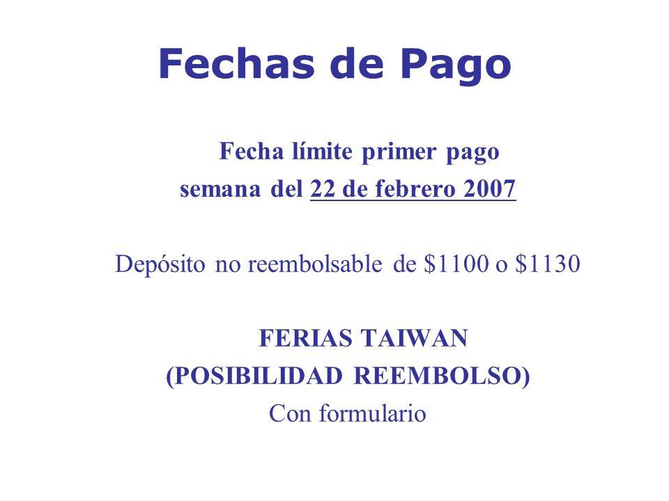 Fecha límite primer pago (POSIBILIDAD REEMBOLSO)