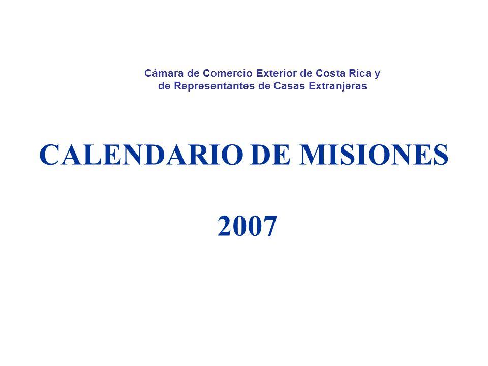 CALENDARIO DE MISIONES 2007