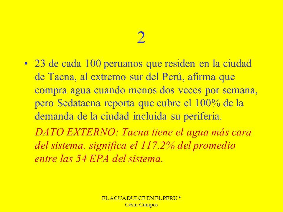 EL AGUA DULCE EN EL PERU * César Campos