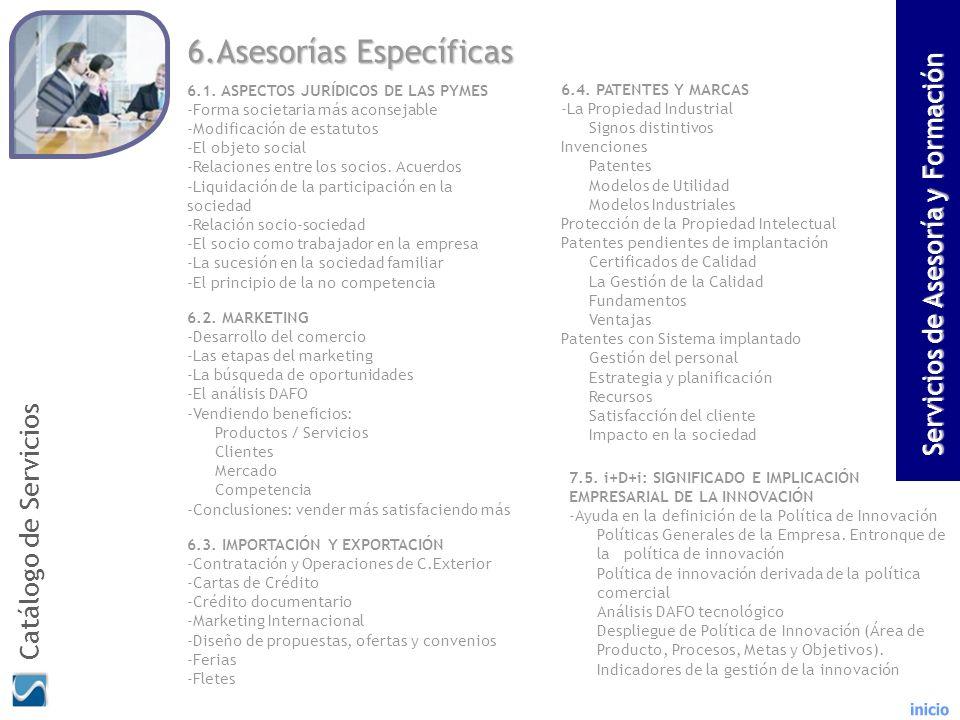 6.Asesorías Específicas
