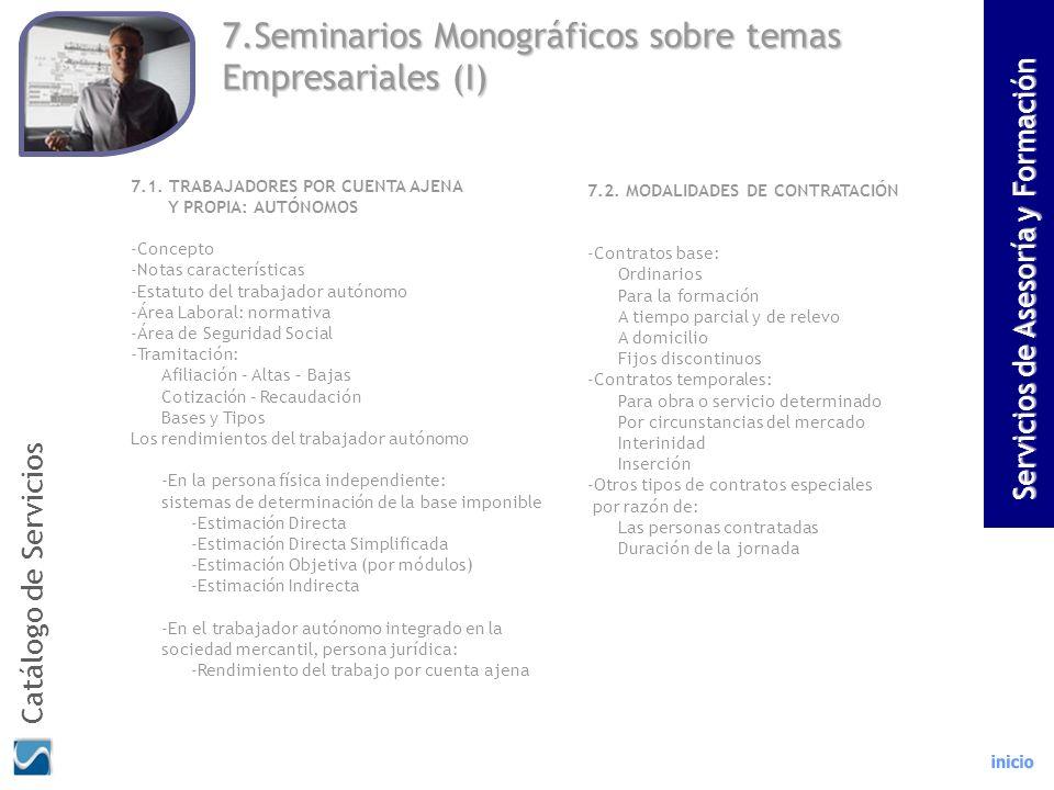 7.Seminarios Monográficos sobre temas Empresariales (I)