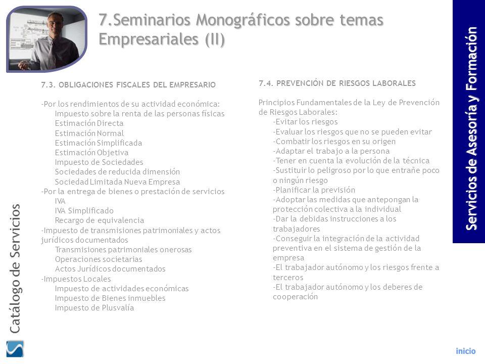 7.Seminarios Monográficos sobre temas Empresariales (II)