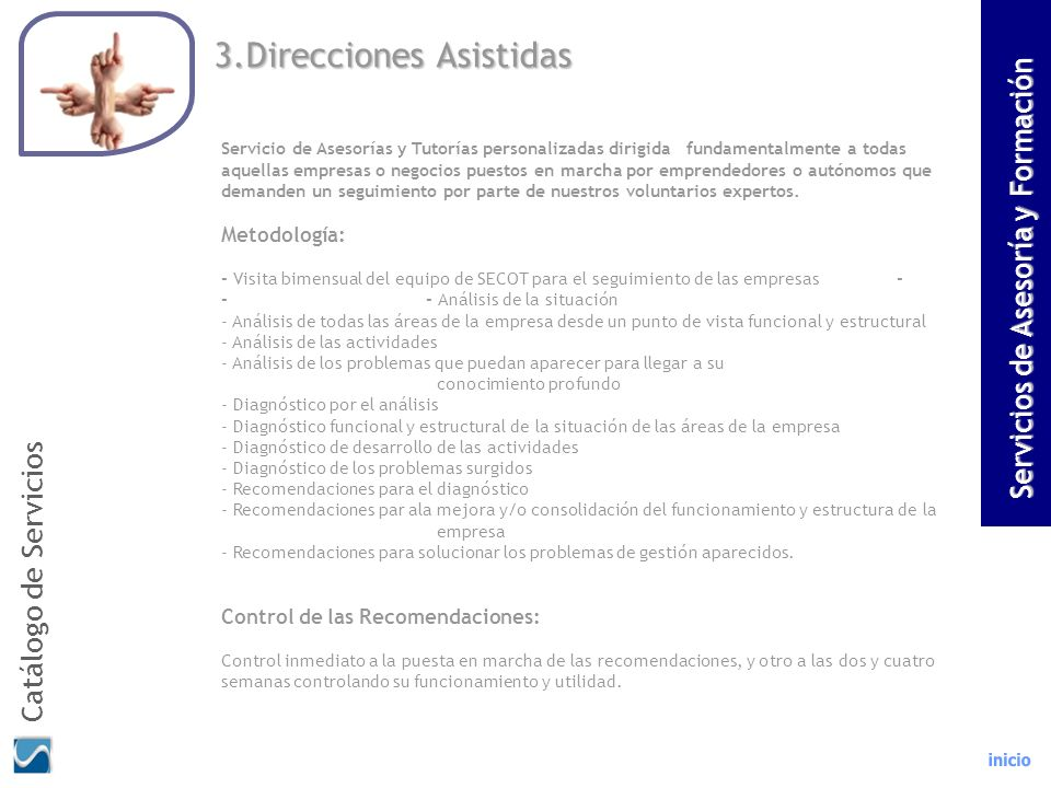 3.Direcciones Asistidas