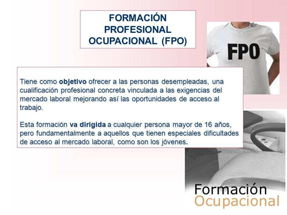 FORMACIÓN PROFESIONAL OCUPACIONAL (FPO)